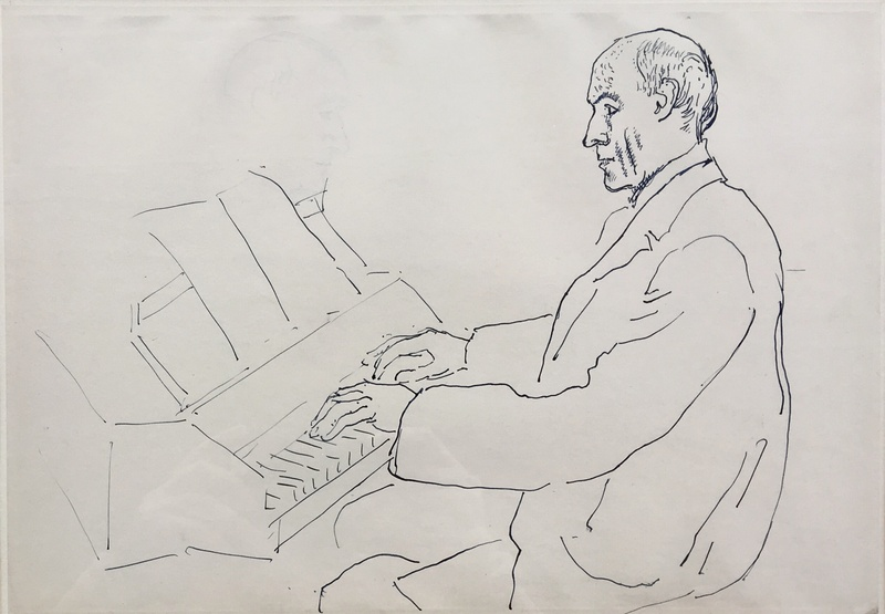 Andre Gide playing the Virginals , 1918