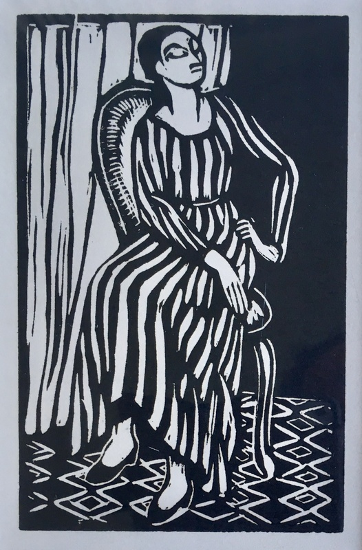 The Striped Dress, 1921