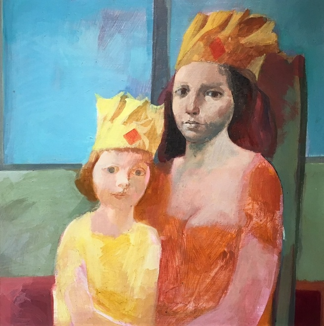 <p>HAROLD WOOD (1918-2014)</p><p>MOTHER AND CHILD IN PAPER HATS, 1960's</p><p class=&#34;cms_red&#34;><strong>SOLD</strong></p>