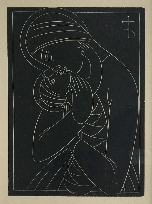 ERIC GILL (1882-1940)  Madonna and Child (The Shrimp), 1922